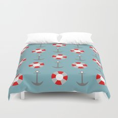 Sailing Pattern Duvet Cover