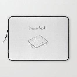 Boredom biscuit // Comfort food Series Laptop Sleeve