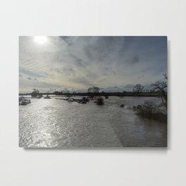 Flooded River Metal Print