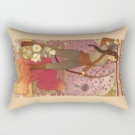 La fille du feu Rectangular Pillow