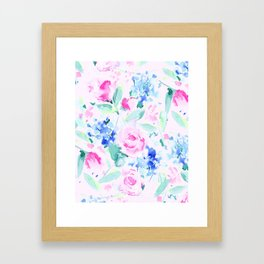 Scattered Lovers Pink Framed Art Print