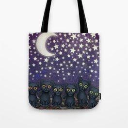 black cats, stars, & moon Tote Bag