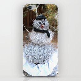 Winter Tumble Man iPhone Skin