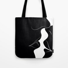 Just a Little Kiss - Black Tote Bag