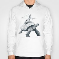 tortoise Hoodies featuring Tortoise Tree by Adam Dunt