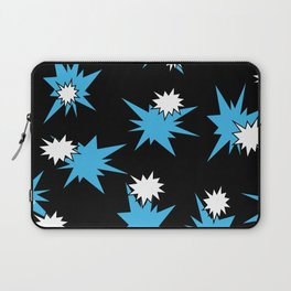 Stars (Blue & White on Black) Laptop Sleeve