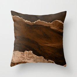 Golden Desert Geode Throw Pillow