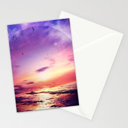 Neon Beach Stationery Cards