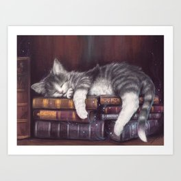 Keeper of the Books Art Print