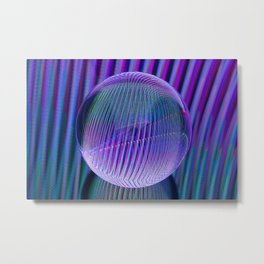 Crystal ball lines 3 Metal Print