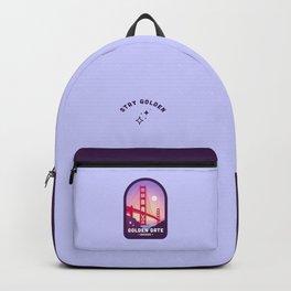 Golden Gate Bridge Badge in Periwinkle Backpack