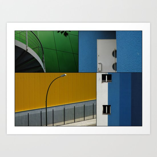 Berlin Urban Fragments Art Print