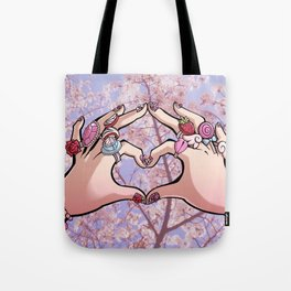Heart Hands - Sakura Trees Tote Bag