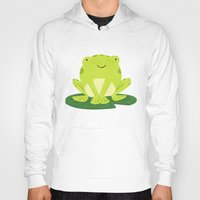 frog Hoodies featuring Frog by Claire Lordon