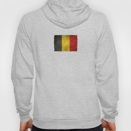 Old and Worn Distressed Vintage Flag of Belgium Hoody
