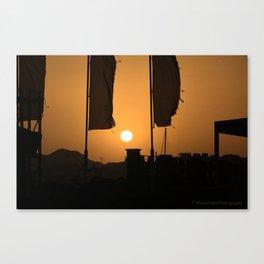 gold sky Canvas Print