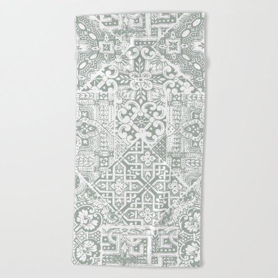 celtic mushroom Beach Towel