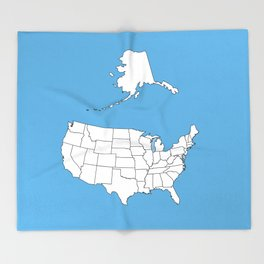 United States of America Throw Blanket