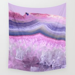 Ultraviolet and Pink Agate Wall Tapestry