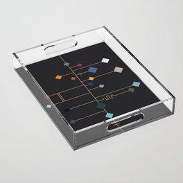 winter equinox Acrylic Tray