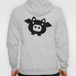 Pigs Will Fly (b&w) Hoody
