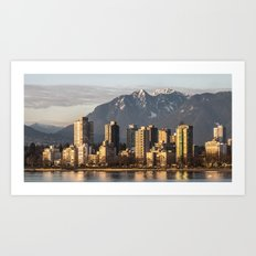 City by the Mountains  Art Print