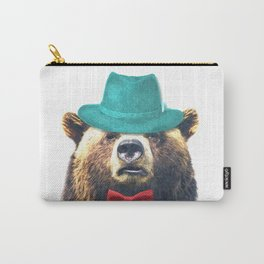 Funny Bear Illustration Carry-All Pouch