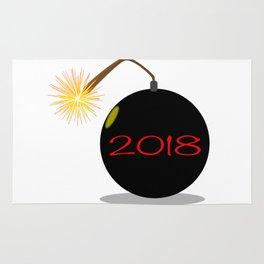 Cartoon 2018 New Year Bomb Rug