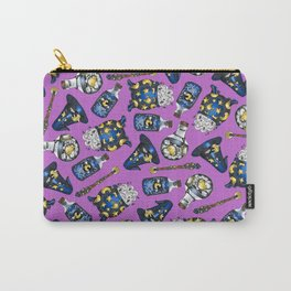 Midnight Witchcraft - Magical Pattern on Purple Carry-All Pouch