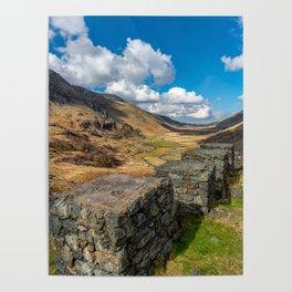 Nant Ffrancon Pass Snowdonia Poster