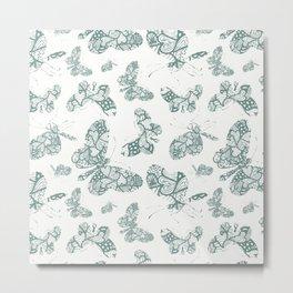 Chic Butterflies Art Metal Print