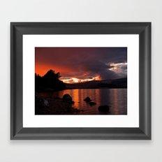 Loch Rannoch Blazing Sunset Framed Art Print