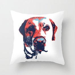 Patriotic Labrador  Throw Pillow