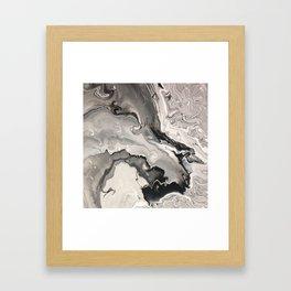 Infiltration Marble Framed Art Print