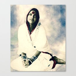 Sri Ma Anandamayi - Hindu Saint - for Blessings and Protection Canvas Print