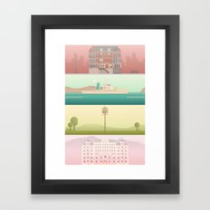 A Wes Anderson Collection Framed Art Print