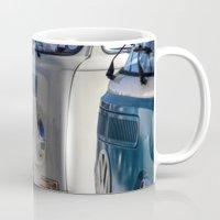 vans Mugs featuring Hippy Vans by Barbo's Art