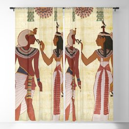 egyptian design man woman priest Blackout Curtain