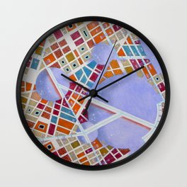 The cities of the Moon Wall Clock