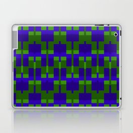 Squares and Lines in Blue and Green Laptop & iPad Skin
