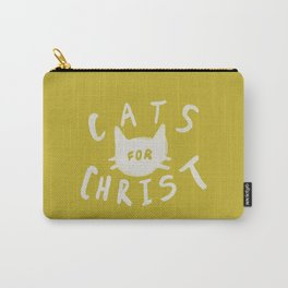 Cats for Christ x Mustard Carry-All Pouch