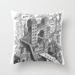 The Fantastic Flying Boat Ship Throw Pillow