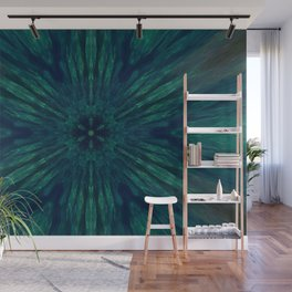 Blue Green Marine Flower Wall Mural