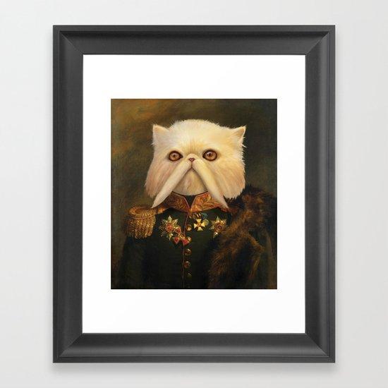 Persian Cat Emperor Framed Art Print