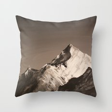 Mountain Painting Throw Pillow
