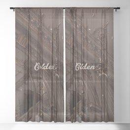 harry - golden  Sheer Curtain