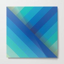 Stripes (blue/aqua) Metal Print