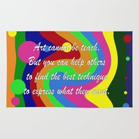 teacher Area & Throw Rugs featuring art teacher by Maria Julia Bastias