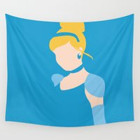 cinderella Wall Tapestries featuring Cinderella by Ese51