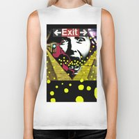 subway Biker Tanks featuring EXIT SUBWAY by AF Knott